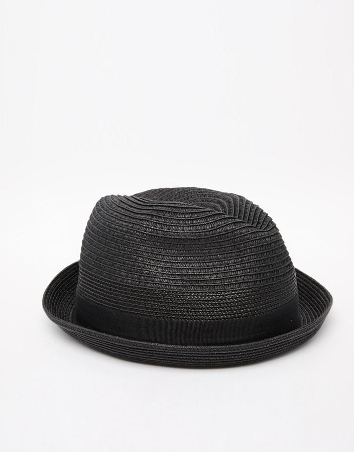 11cad123792 ... Black Straw Hats Diesel Citsuyer Trilby Hat ...