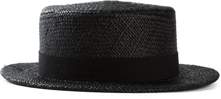 Dinner Hat. Black Straw Hat by Henrik Vibskov 7672e65f34e