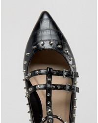 73fff77bf262 ... Asos Looking Good Wide Fit Studded Ballet Flats