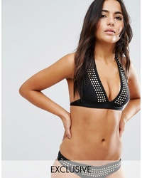 Wolf & Whistle Studded Bikini Top A F Cup