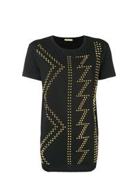 Versace Jeans Studded Crewneck T Shirt