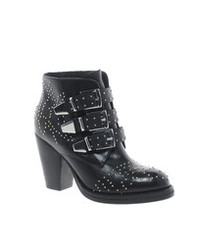 9baa4c41ff6 Women's Black Studded Leather Ankle Boots by Asos | Women's Fashion ...