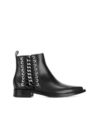 Alexander McQueen Chain And Eyelet Detail Chelsea Boots