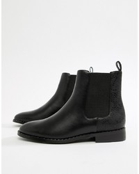 Head over Heels by Dune Head Over Heels Petunia Black Studded Casual Ankle Boots