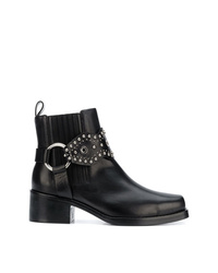 RED Valentino Red Studded Strap Ankle Boots