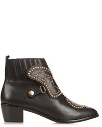 Sophia Webster Karina Butterfly Studded Leather Ankle Boots