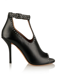 Studded ankle boots in black leather medium 625394