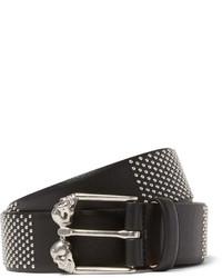 Alexander McQueen 35cm Black Studded Leather Belt