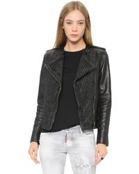 Nour hammour erin studded leather jacket medium 347733