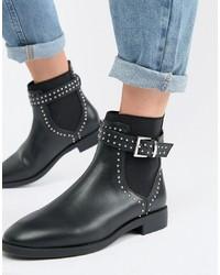 ASOS DESIGN Ascend Studded Chelsea Boots