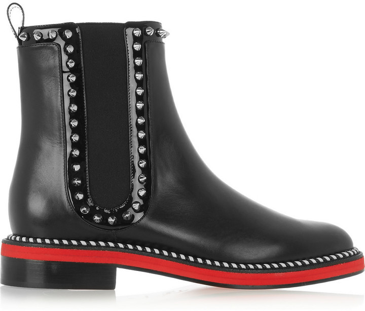 Notting Hill 25 Studded Leather Chelsea Boots Black