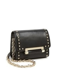 Black Studded Leather Crossbody Bag