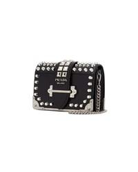 Prada Black Cahier Small Leather Cross Body Bag
