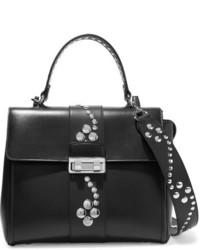 Jiji small studded leather shoulder bag black medium 828978