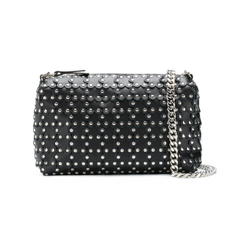 RED Valentino Red Studded Shoulder Bag
