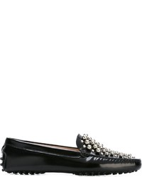 Black Studded Leather Driving Shoes