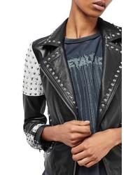 Maddox studded leather jacket medium 1249361