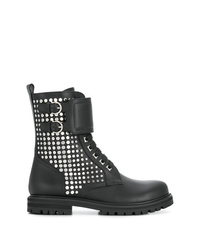 Salvatore Ferragamo Studded Military Boot