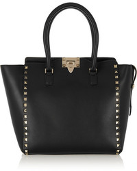 The rockstud medium leather tote black medium 162647