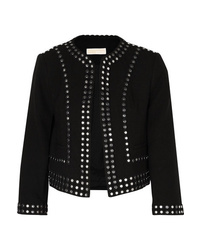 MICHAEL Michael Kors Cropped Studded Crepe Jacket