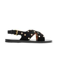 Isabel Marant Jane Studded Suede Sandals