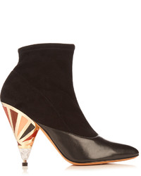 Cone heel suede ankle boots medium 959805