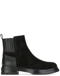 Sergio Rossi Contrast Panel Ankle Boots