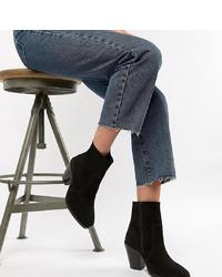 ASOS DESIGN Wide Fit Espresso Suede Ankle Sock Boots Suede