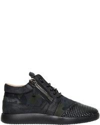 Black Suede Athletic Shoes