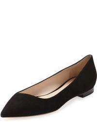 Black Suede Ballerina Shoes