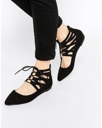 Asos Collection Level Up Lace Up Ballets
