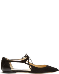 Jimmy Choo Vanessa Cut Out Suede Flats