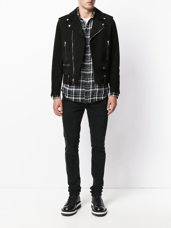 cc64469578 Classic Ysl Suede Motorcycle Jacket