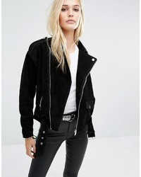 Noisy May Suede Biker Jacket