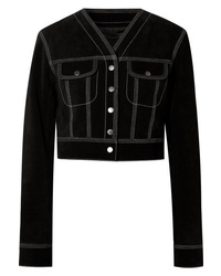 Marc Jacobs Cropped Suede Jacket