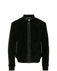 Saint Laurent Studded High Neck Bomber Jacket