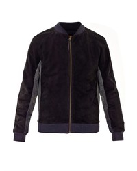 Missoni Suede And Wool Bomber Jacket
