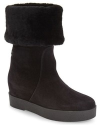 Salvatore Ferragamo Falcon Genuine Shearling Platform Wedge Boot