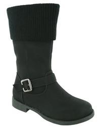 Jumping Jacks Girls Breanna Knit Cuff Boot