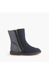 J.Crew Girls Zip Chalet Boots With Glitter
