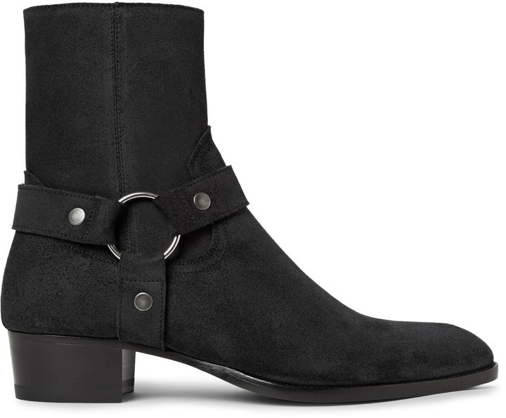Saint Laurent Suede Wyatt Boots