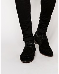 Brogue shoes in black suede medium 798224
