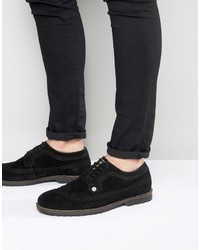 Original Penguin Brogues In Black Suede