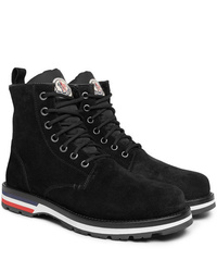 Moncler New Vancouver Shearling Lined Suede Boots
