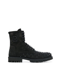 Philipp Plein Studded Lace Up Ankle Boots