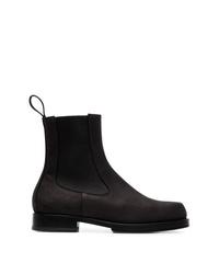1017 Alyx 9Sm Black Flat Vibram Sole Leather Chelsea Boots