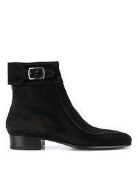 Saint Laurent Buckled Suede Boots