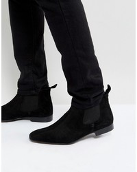 Silver Street Chelsea Boots Suede In Black Suede