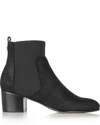 Hallow coated suede ankle boots black medium 442680