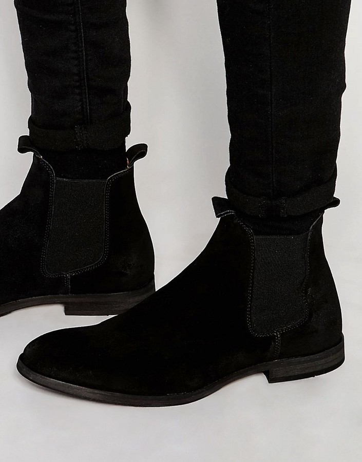 Selected Suede Chelsea Boots